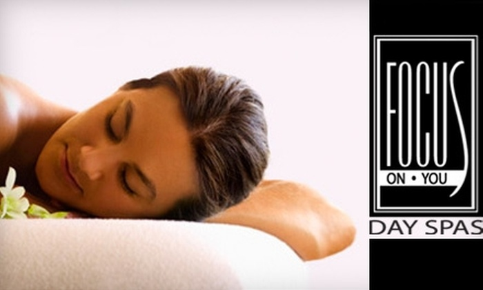 Focus On You Day Spas - Multiple Locations: Glow on the Go or Relaxing Radiance Facial at Focus On You Day Spas. Choose Between Two Options.