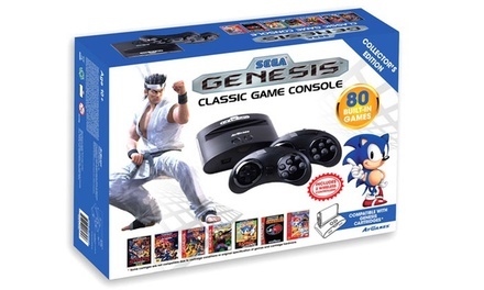 SEGA Genesis Classic Game Console with 80 Built-In Games
