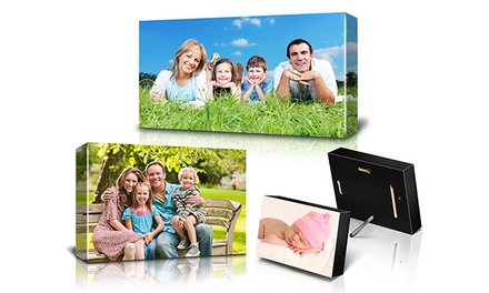 Custom Photo Block, Panoramic Canvas Print, or Standard Canvas Print from Fabness (Up to 79% Off)