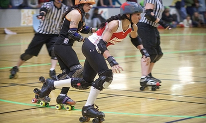 Backyard Bullies vs HARD's Beat City Bedrockers - Yonkers: $7 for One General-Admission Ticket to Suburbia Roller Derby in Yonkers (Up to $15 Value)