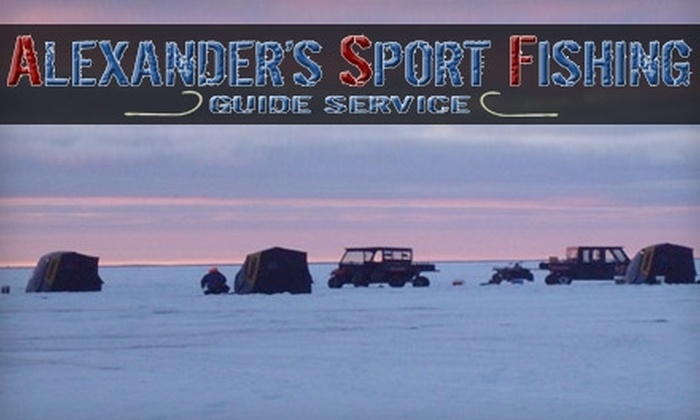 Alexander's Sport Fishing - Green Bay: $190 for an All-Day Ice-Fishing Trip for Two at Alexander's Sport Fishing ($320 Value)