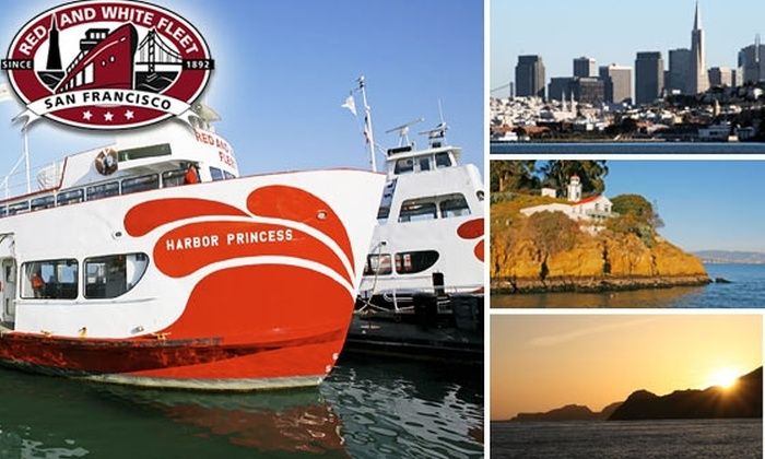 Red and White Cruises - San Francisco: $25 Bay Cruise, Including Two Drinks ($44 Value)