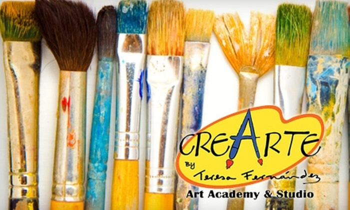 Cre-Arte by Teresa Fernández Art Academy  - Lambka Park: $12 for Canvas and 90-minute Art Class at Cre-Arte by Teresa Fernández Art Academy ($24 Value)