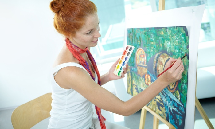 The Little Red School of Art and Music - Stratford: Adult Painting Birthday Party for Four, Six, or Eight at The Little Red School of Art and Music (50% Off)