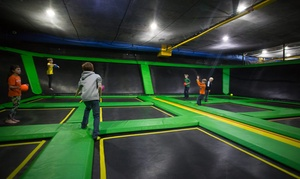 The Factory: Trampoline Jump Passes or Birthday Party at The Factory (Up to 51% Off). Four Options Available.
