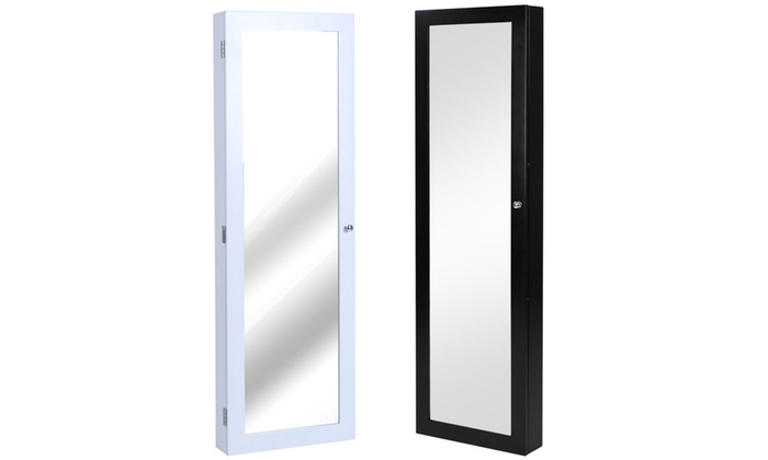 armoire bijoux murale avec miroir groupon. Black Bedroom Furniture Sets. Home Design Ideas