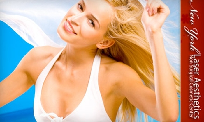 New York Laser & Aesthetics - Manhasset: $99 for Three Laser Hair-Removal Treatments from New York Laser & Aesthetics in Great Neck (Up to $300 Value)