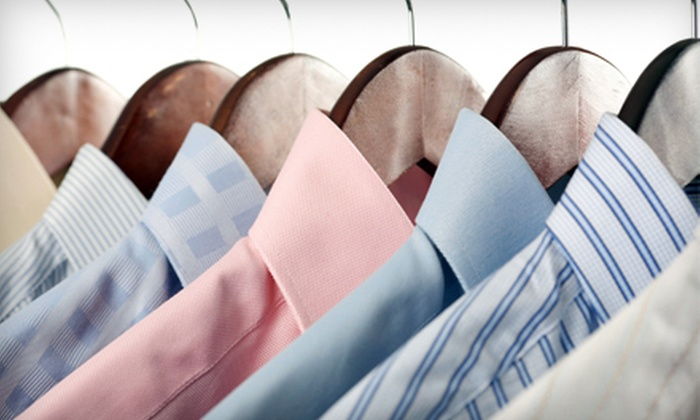 On-The-Marc Dry Cleaners - Lawrence: Dry-Cleaning Services Including Pick-Up and Drop-Off at On-The-Marc Dry Cleaning in Lawrence. Three Options Available.