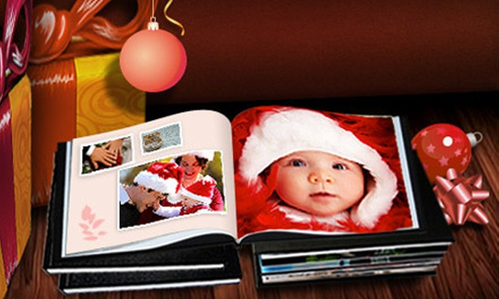 "Printerpix: One, Three, or Five 8""x8"" Personalized Leather-Bound Photo Books from Printerpix (Up to 82% Off)"
