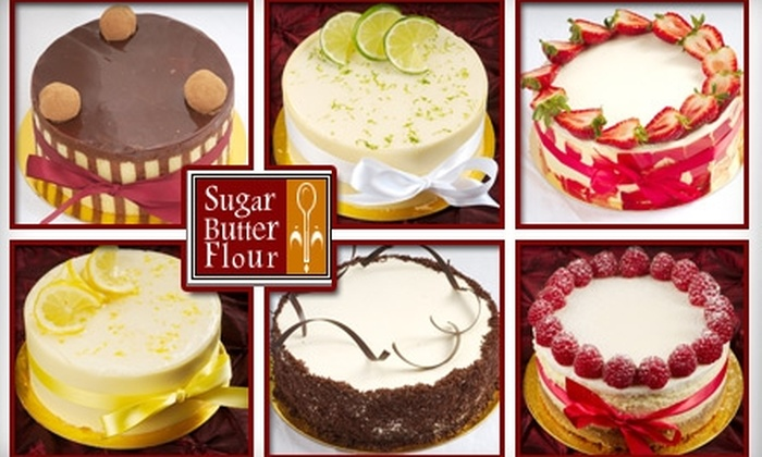 Sugar Butter Flour - Multiple Locations: $12 for a 6-Inch Cake from Sugar Butter Flour ($25 Value)