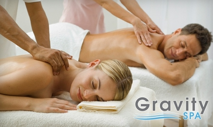 Gravity Spa - Beavercreek: $75 for a Couples' Massage Class ($150 Value) or $65 for a 60-Minute Couples' Massage ($130 Value) at Gravity Spa
