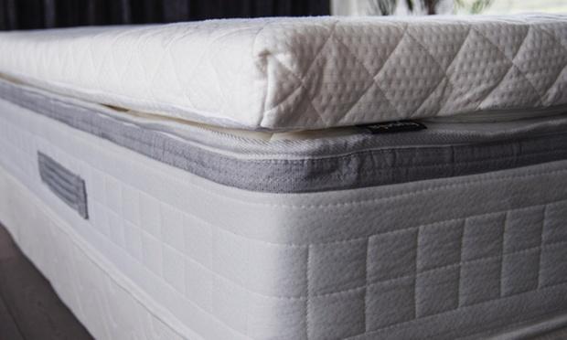 surmatelas m moire de forme bambou groupon shopping. Black Bedroom Furniture Sets. Home Design Ideas