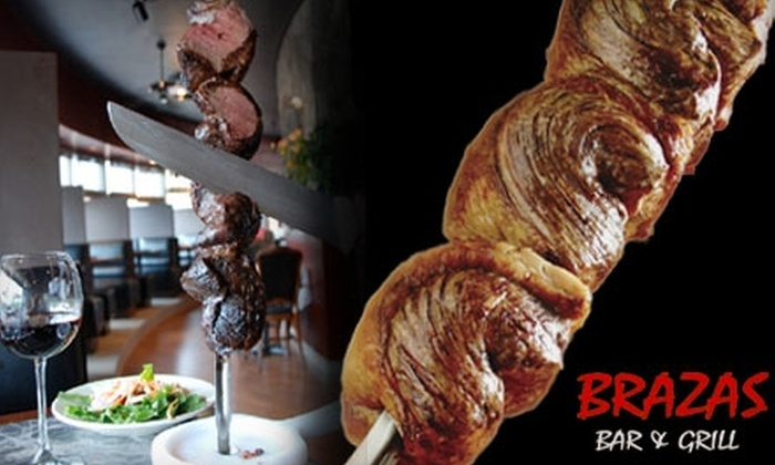 Brazas Bar & Grill - Oakhurst: $20 for $50 Worth of Brazilian Steakhouse Fare and Drinks at Brazas Bar & Grill