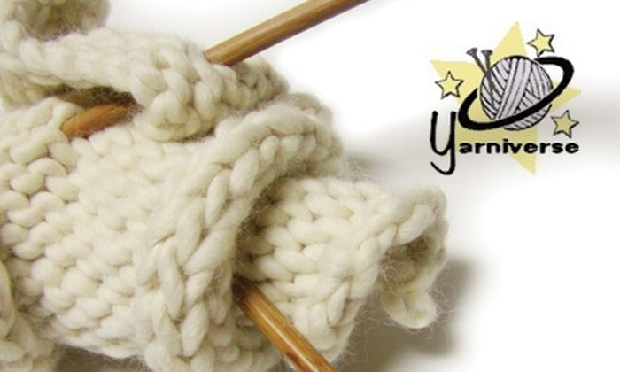 Yarniverse - Sea Isle Park Neighborhood Association: $10 for Two Beginner Knitting Classes at Yarniverse