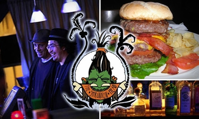 The Shrunken Head - Victorian Village: $10 for $20 Worth of Casual Tiki-Bar Fare and Beverage at The Shrunken Head