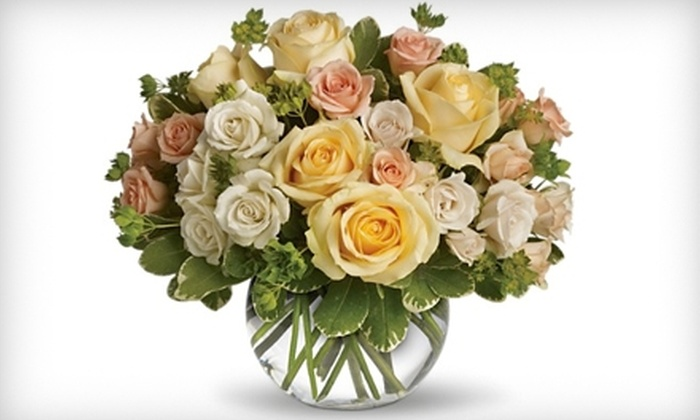 Myrtle Flowers & Gifts - Reynolds Corners: $25 for a Flower Arrangement and Gourmet Chocolates from Myrtle Flowers & Gifts (Up to $49.98 Value)