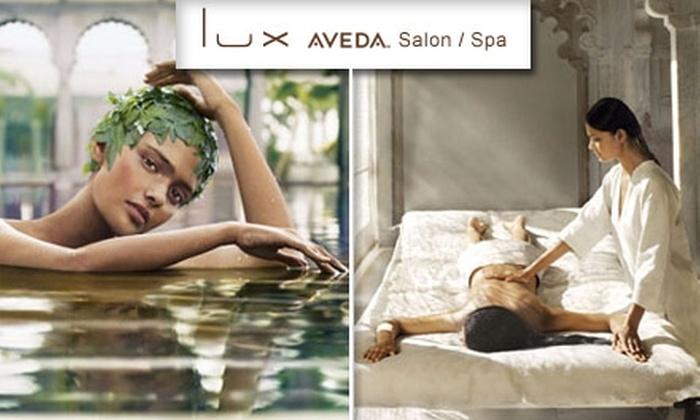 Lux Aveda Salon/Spa - Los Angeles: $50 for a Trio of Rejuvenating Treatments at Lux Aveda Salon/Spa ($188 Value)