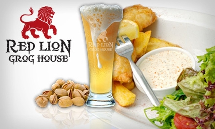 The Red Lion Grog House - Fountain Square: $10 for $20 Worth of Food and Drinks at The Red Lion Grog House