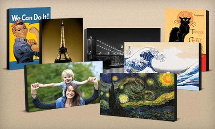 "ArtsyCanvas: $39 for a 20""x13"" Gallery-Wrapped Canvas from ArtsyCanvas ($90 Value)"