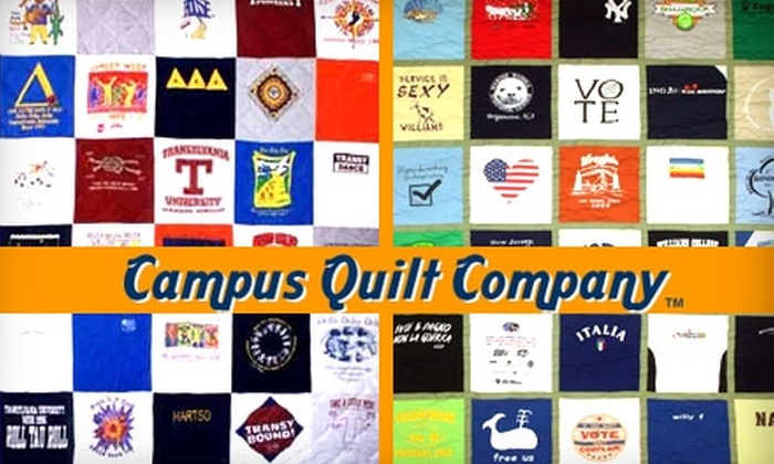 Campus Quilt Company - Baltimore: $20 for $70 Worth of Custom T-Shirt Quilts, Pillows, and More from Campus Quilt Company