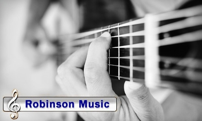 Robinson Music  - Westborough: $10 for a Half-Hour Private Guitar Lesson at Robinson Music ($27 Value)