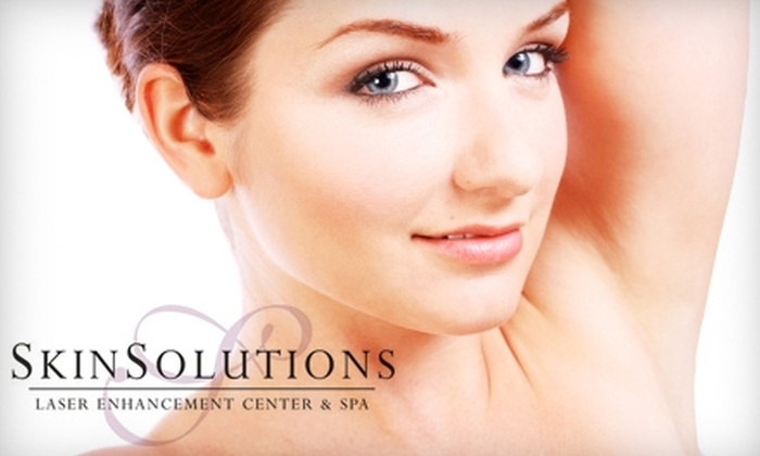 Skin Solutions Laser Enhancement Center & Spa - Clive: $149 for Three Laser Hair-Removal Treatments from Skin Solutions Laser Enhancement Center & Spa