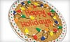 """Cookies By Design  - Multiple Locations: 13"""" Chocolate-Chip-Cookie Cake or Two Dozen Gourmet Cookies at Cookies By Design (Up to 53% Off)"""