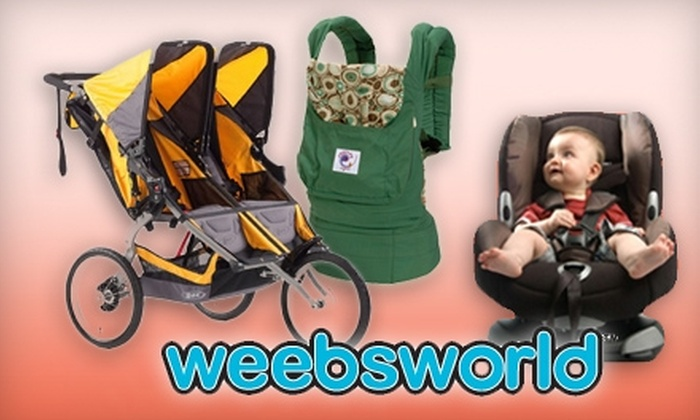 Weebsworld - Three Chopt: $40 for $80 Worth of Baby Gear and Accessories at weebsworld