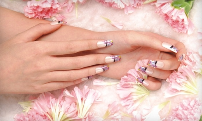 Fab Nails - Multiple Locations: $10 for a Custom Digitally Printed Artificial-Nail Set at Fab Nails ($24.90 Value)