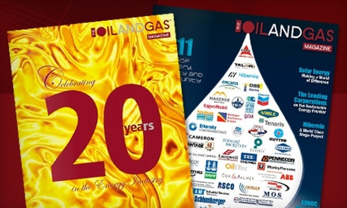 """The Oil and Gas Magazine: $14 for a One-Year Subscription to """"The Oil and Gas Magazine"""" ($29.99 Value)"""