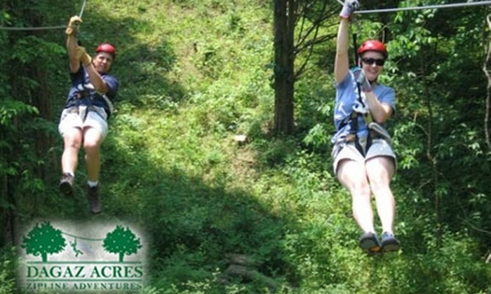 Dagaz Acres Leadership Center and Zipline Adventure Course - Posey: $35 Guided Zip-Line Tour at Dagaz Acres Leadership Center and Zipline Adventure Course ($65 Value)