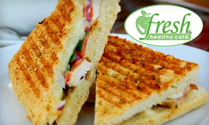 Fresh Healthy Café  - Akron / Canton: $6 for $12 Worth Of Sandwiches, Smoothies, and More at Fresh Healthy Café