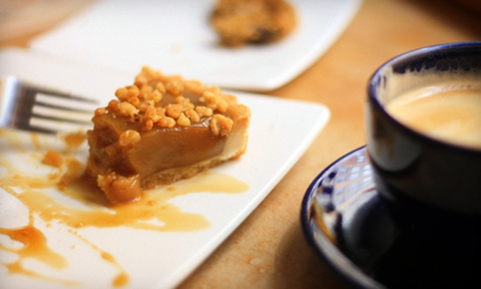 Blue Sky Java - Parkway Village: $9 for Five Flavored Lattes and One Slice of Pie or Cake at Blue Sky Java in Goodyear ($21.74 Value)
