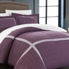 Geramonti Pleated Patchwork Duvet Cover Set (3-Piece)