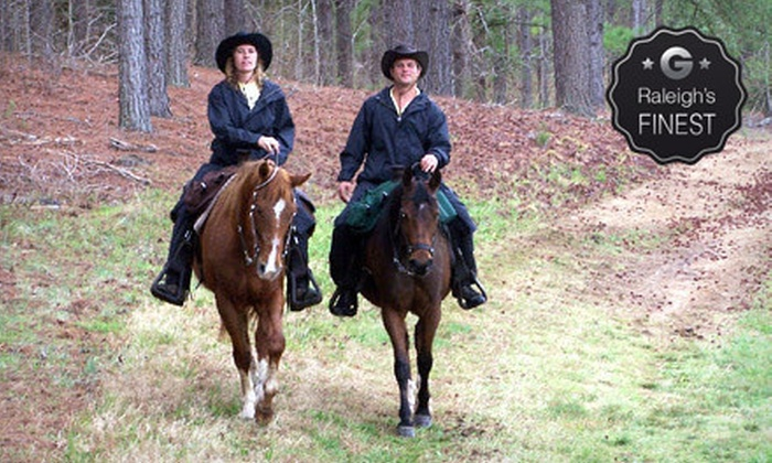 Dead Broke Farm - Raleigh: Horseback Trail Ride at Dead Broke Farm (Up to 55% Off). Four Options Available.