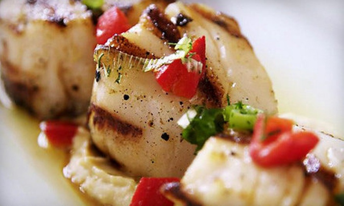 Ethos Restaurant - Great Neck Plaza: Mediterranean Dinner with Appetizers and Entrees for Two or Four at Ethos Restaurant (Up to 53% Off)