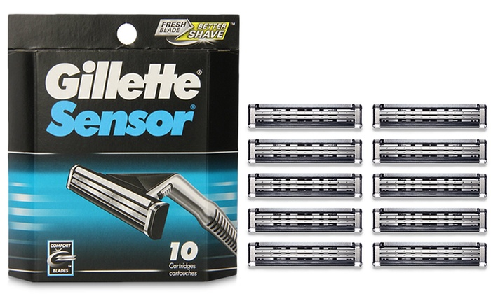 Gillette Sensor Razor Refill Cartridges 10 Pack