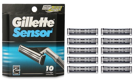 Gillette Sensor Refills 10 Pk Groupon Goods