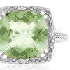 4 CTW Green Amethyst and Diamond Halo Ring