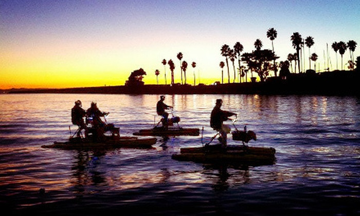 Long Beach Hydrobikes - Belmont Shore: $15 for a 90-Minute Sunset Hydrobike Rental from Long Beach Hydrobikes ($35 Value)