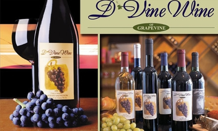 D'Vine Wine of Texas - Multiple Locations: $12 for a Two-Person Wine Tasting and $20 Credit at D'Vine Wine ($30 Value)