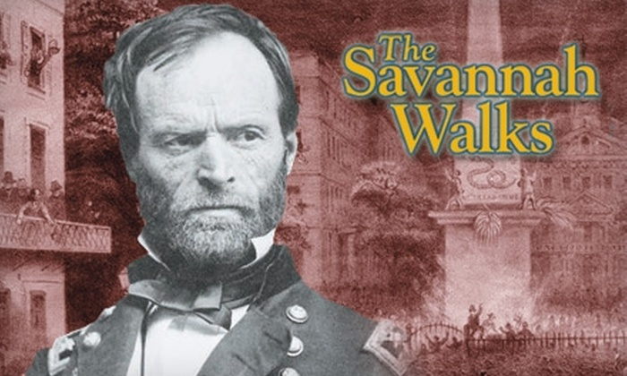 Savannah Walks Civil War Tour - Historic District - North: $8 for One Adult Ticket to a Savannah Walks Civil War Tour (Up to a $16 Value)