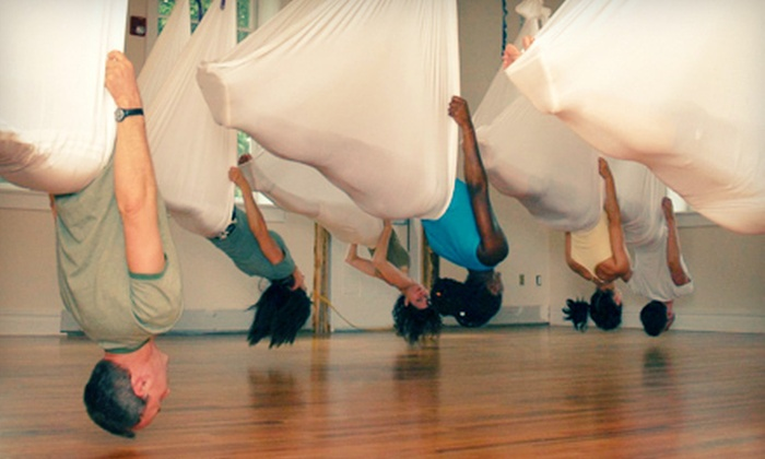 Core Connection Studio - Long Hill: 5 or 10 Antigravity Yoga Classes at Core Connection Studio in Long Hill Township (Up to 71% Off)