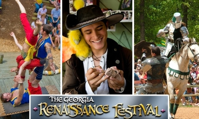 Georgia Renaissance Festival - Fairburn: $10 Ticket to the Georgia Renaissance Festival on April 24, April 25, May 8, or May 9 ($20 Value)