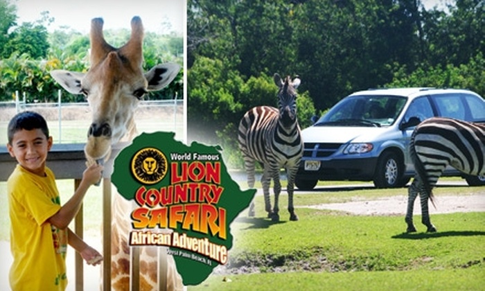 Lion Country Safari - Fox Trail West: $30 for Two Admissions and Parking at Lion Country Safari (Up to $62.84 Value)