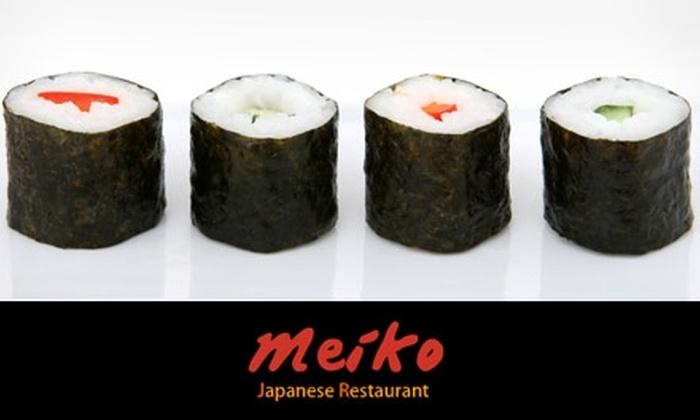 Meiko Sushi - San Francisco: $20 for Pre-Set Sushi Menu and Drinks at Meiko Sushi