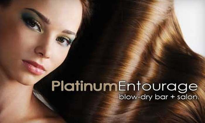 Platinum Entourage - Spring Valley: $22 for a Blowout and Hair-Clarifying Treatment at Platinum Entourage Blow-Dry Bar & Salon ($45 Value)