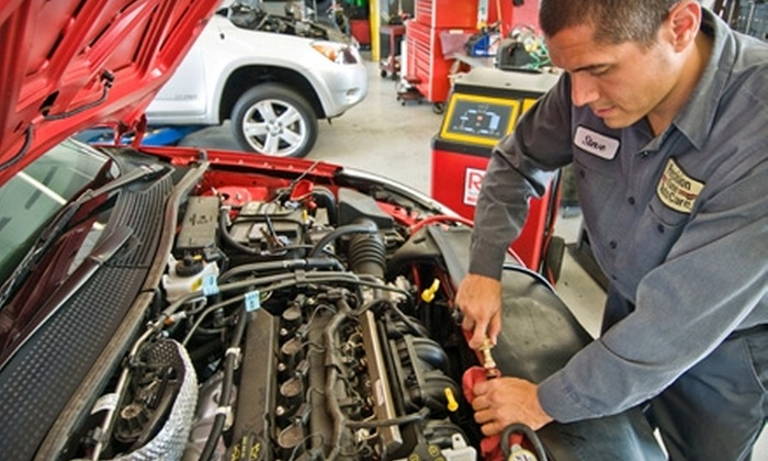 Precision Tune Auto Care - Multiple Locations: $18 for Premium Plus Oil Change, Tire Rotation, and Brake Inspection at Precision Tune Auto Care in Sunnyvale ($64.95 Value)