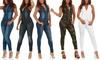 Smart Jeans Women's Denim Jumpsuit. Junior and Plus Sizes Available.