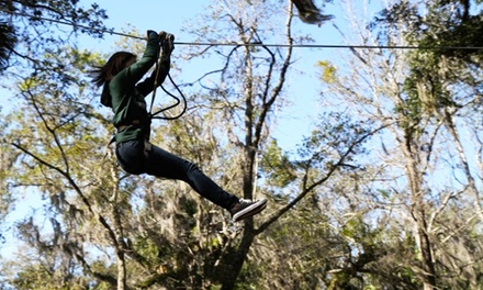 Ziplining and Aerial Adventure Experience for Two or Four at Zoom Air Adventure Park (Up to 48% Off)